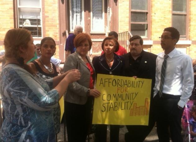 Denise Serrano of 1821 Cornelia Street Speaks to Speaker Quinn, CM Velazquez, CM Reyna, Assembly Member Mike Miller