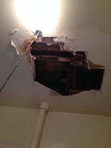 ceiling, apt 2A
