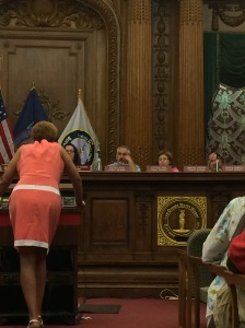 Donna Mossman testifying at the Brooklyn RGB Hearing on June 18th.